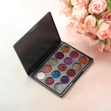 Load image into Gallery viewer, 15 Colors Glitter Eyeshadow Palette
