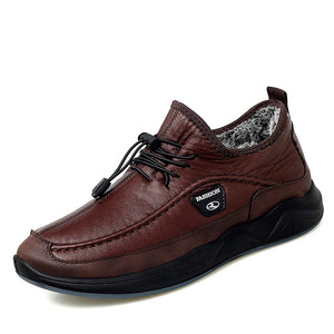 Mens Casual Leather Slip-on