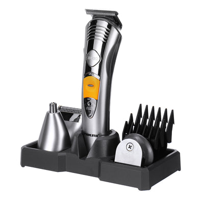 NK580 7 In 1 Men's Grooming Kit with Trimmer for Head Nose Hair Clipper Rechargable Shaver Razor Electric Hair Trimmer
