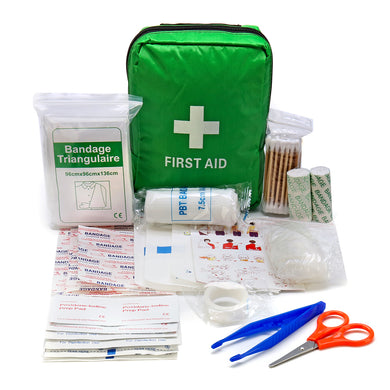 Green First Aid Kit With Bag