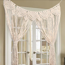 Load image into Gallery viewer, Large Macrame Wall Hanging Curtain