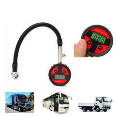 Metal Digital Tire LCD Manometer Air Pressure Gauge PSI