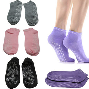 Pilates Yoga Anti Not Slip Grip Cotton Socks