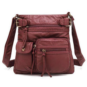 Casual PU Leather Crossbody Bag