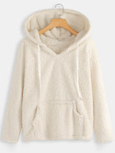 Load image into Gallery viewer, Women V-neck Hooded Fleece Coat