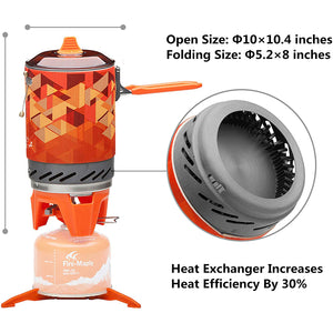 Camping Cooking System Stove with Electric Ignition Pot