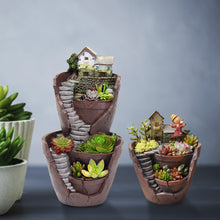 Load image into Gallery viewer, Sky Garden Potted Big House Micro Landscape
