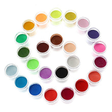 Load image into Gallery viewer, 24 Colors Acrylic Manicure Nail Art Powder Dust Decoration