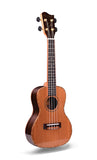 "24"" AA Solid Top Cedar Wood Concert Ukulele GKC-A9 - Zalaxy"