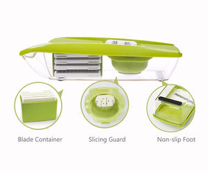 Vegetable Cutter Food Container Adjustable Mandoline Slicer