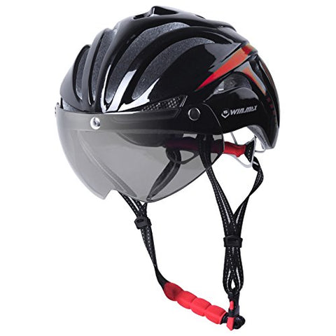 Cycling Safety Helmet With Lens & Anti-Insect Net - Zalaxy