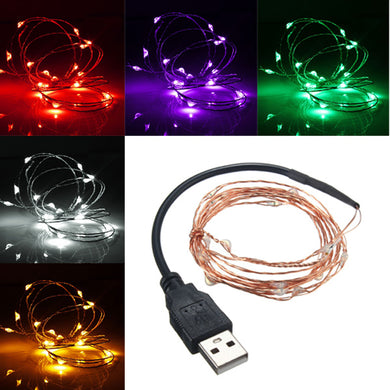 USB Copper Wire LED String Fairy Light