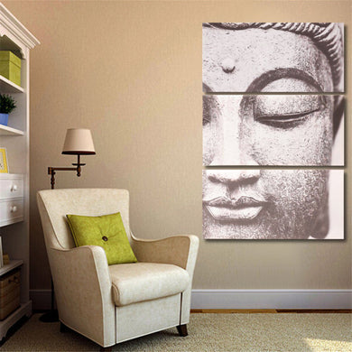3 pcs. Set Modern Buddha Canvas Print Painting