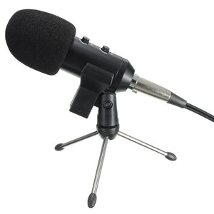 Audio Dynamic USB Condenser Mic With Stand Mount