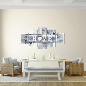 5 Panels Love Home Wall Art