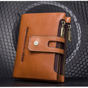 Leather Wallet Card Holder Coin Bag