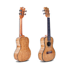 "Load image into Gallery viewer, 24"" Slotted Headstock AA Ash Wood Concert Ukulele LA8 - Zalaxy"