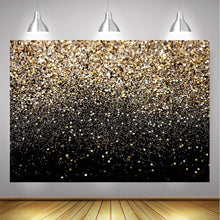 Load image into Gallery viewer, Gold Bokeh Spots Photography Backdrop