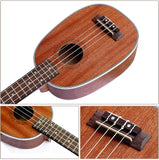 "21"" Sapele Wood Soprano Pineapple Ukulele UK35 - Zalaxy"