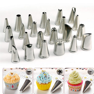 24Pcs Flower Pastry Cake Icing Piping Nozzles