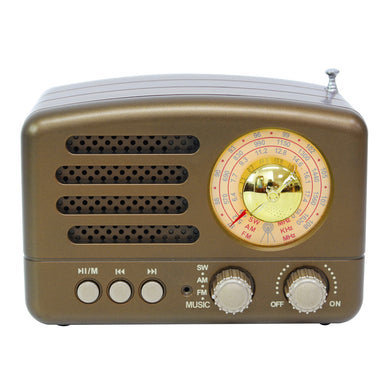 Portable AM FM AUX Vintage Retro Radio