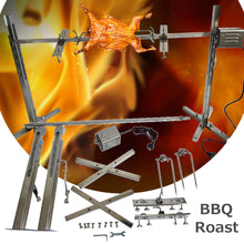 Load image into Gallery viewer, Stainless Steel Portable Rotisserie Grill Spit Tripod