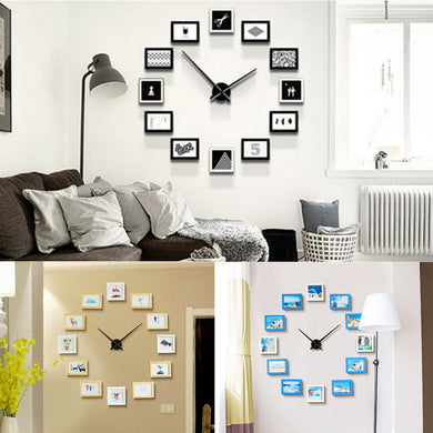 12 Frame Photo Wall Clock