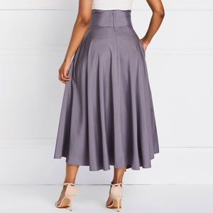 Pleated High Waist Skirt