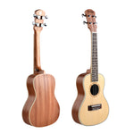 "24"" Spruce Wood Concert Ukulele UK50 - Zalaxy"