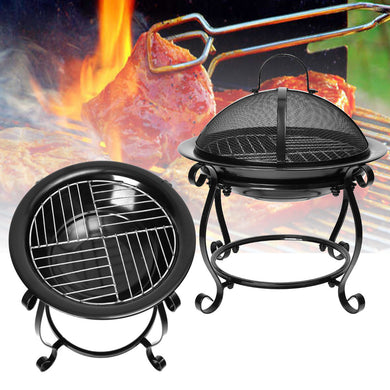 Iron Fireplace Heater Garden Party Grill Barbecue Rack