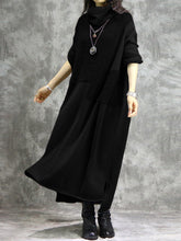 Load image into Gallery viewer, Women Casual Solid Color Long Sleeve Maxi Dress