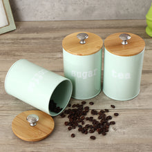 Load image into Gallery viewer, 3Pcs Tea Sugar Coffee Canisters Storage Jars