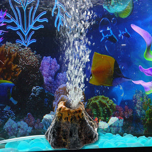 Volcano Shape Aquarium Fish Tank Decor