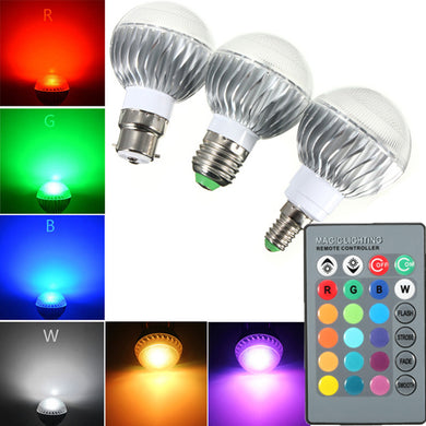 5W RGB Remote Controlled Colour Changing LED Light