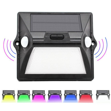 Solar Powered 7 Color Changing Wall Light