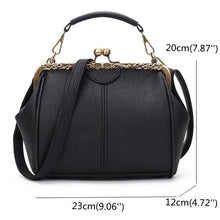Load image into Gallery viewer, Women Vintage Hasp Bucket Bag