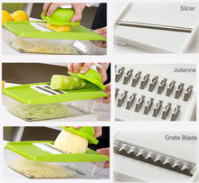 Load image into Gallery viewer, Vegetable Cutter Food Container Adjustable Mandoline Slicer