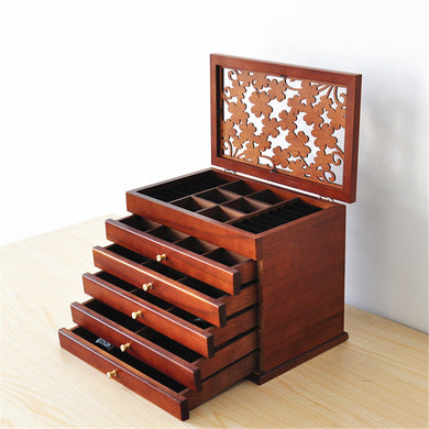 Retro Storage Jewelry Wooden Box