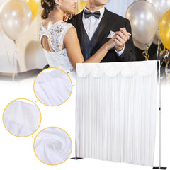 3x3M White Stage Party Backdrop Photography Background Drape Curtains