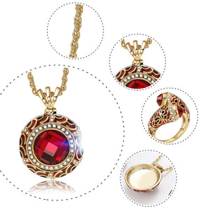 Luxury Red Crystal Jewelry Set