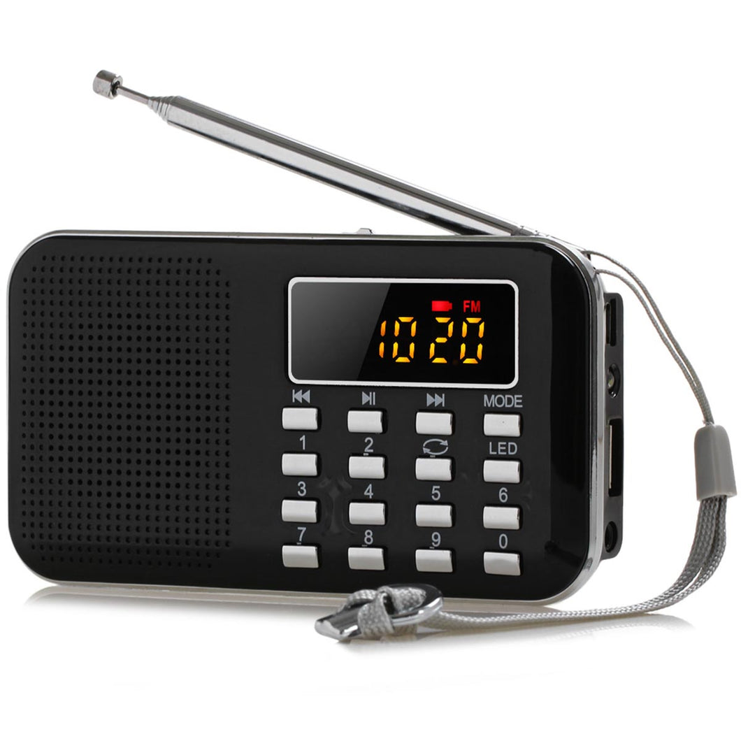 FM AM Radio Digital LCD Supper Bass Mini Speaker
