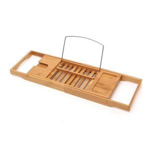 Bamboo Bath Shelf Bridge Tub Caddy Tray