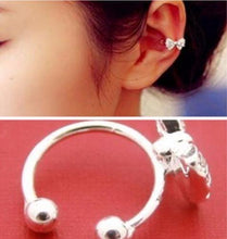 Load image into Gallery viewer, Crystal Bowknot Ear Cuff