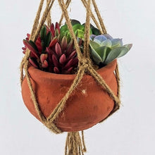 Load image into Gallery viewer, 40 Inch Flower Pot Plant Hanger Macrame Jute Rope