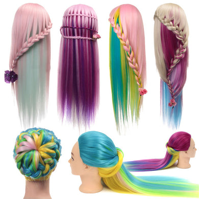 Multicolor Hairdressing Training Head Mannequin