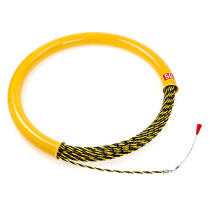 50M 6mm Cable Push Puller Conduit Rodder Fish Tape Wire