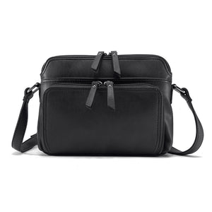 Multi-pocket Faux Leather Crossbody Bag