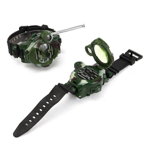 Children Walkie Talkie Kids Camouflage Wrist Watch
