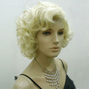 Blonde Marilyn Monroe Fashion Curly Wig