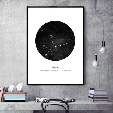 30x40cm Constellation Art Canvas Poster